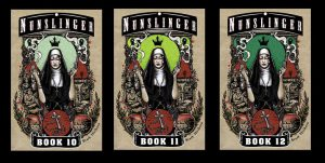 Nunslinger books 10 to 12 covers