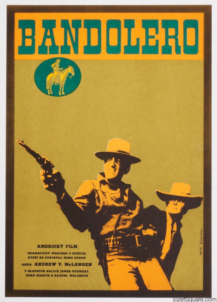 Poster for Bandolero by Alexej Jaroš, 1969 (Czech).