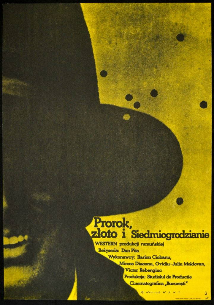 Polish poster for Romanian western The Prophet, the Gold, the Transylvanians