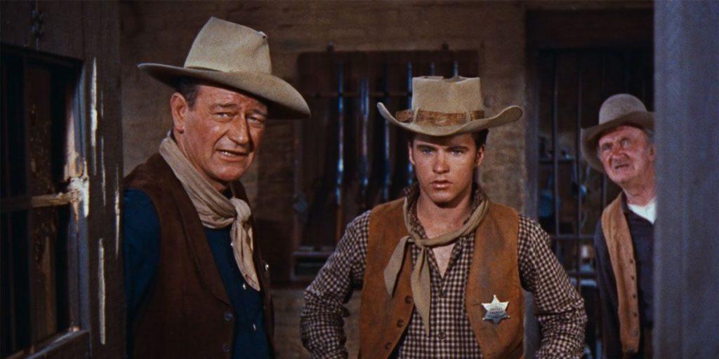 John Wayne, Ricky Nelson, Walter Brennan in Rio Bravo