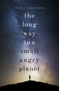 UK cover for the Long Way to a Small Angry Planet