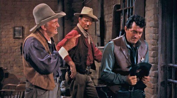 Walter Brennan, John Wayne, Dean Martin in Rio Bravo