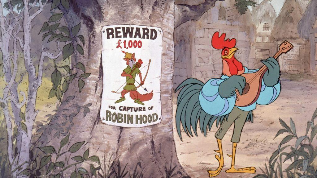 Allan o Dale the Rooster in Disney Robin Hood